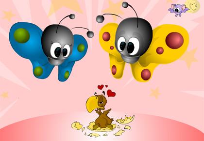 Ecard Schmetterlinge